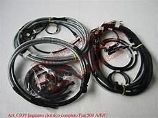 impianto elettrico completo fiat 500 a b c topolino con