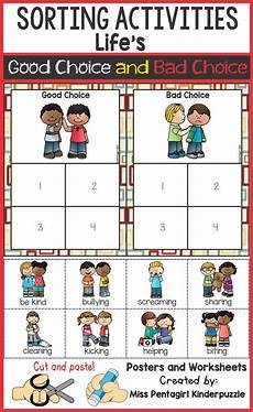 sorting and grouping worksheets 7809 sorting activities s choice and bad choice part 1 kindergarten sorting activities