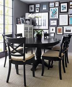 Black Dining Room Table by Avalon 45 Quot Black Extension Dining Table Pedestal
