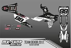 Mx Shop Rhein - mx shop team dekor kit 2017 black edition mx shop rhein