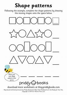 shape patterns worksheets 244 and print worksheets priddy books priddy books