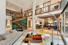 maisonette wohnung schickem design wohnzimmer moderne