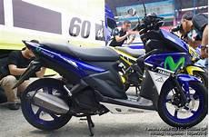 Modifikasi Aerox 125 by Galeri Modifikasi Yamaha Aerox 125 Warna Kuning Movistar