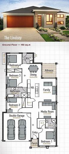 modern single storey house plans single storey house design the lindsey 190sq m 11 1m
