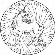 Malvorlage Pferd Mandala Unicorn Mandala Coloring Pages Part 1 Free Resource