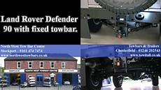 land rover defender 90 with a fixed towbar youtube