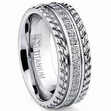 mens wedding ring mens or womens eternity t titanium lcs diamond wedding