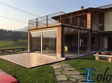chiudere terrazza con vetro tenda in trasparente mod eolo protezione pioggia