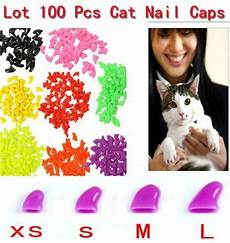 100 Pcs Cat Claw Covers Lots 100pcs 14 Colors Soft Cat Pet Nail Caps Claw Control