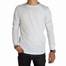 kaos baju polos putih premium lengan panjang naga clothing lazada indonesia