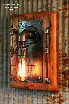 steunk l industrial machine age steam light