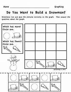 winter graphing worksheets kindergarten 20011 winter snowman graphing picture graph kindergarten 1st grade by teaching k