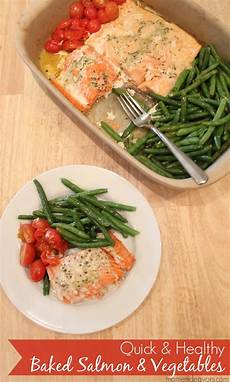 quick healthy recipe one pan baked salmon vegetables