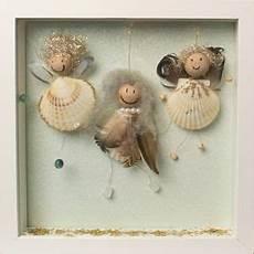 bastelidee geschenkidee engel aus muscheln basteln