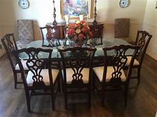 thomasville traditional mahogany dining room set with 9