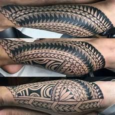 40 polynesian leg tattoo designs for men manly tribal ideas