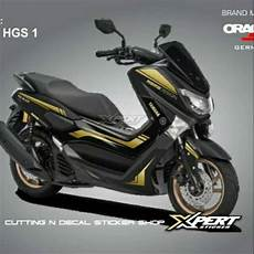 Variasi Skotlet by Sticker Cutting Yamaha Nmax Stiker Nmax Hitam Variasi Gold