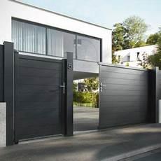 Portail En Aluminium Coulissant Motoris 233 Alpes Noir 350 Cm