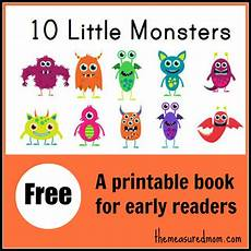 free 10 little monsters printable reading book free homeschool deals