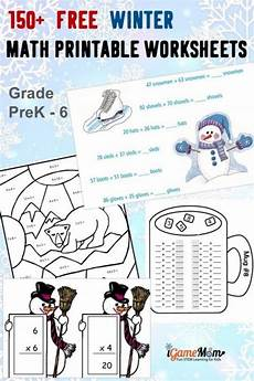 free activity worksheets 20305 150 free winter math printable worksheets