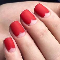 cute matte red nail designs 2018 summer fashionre