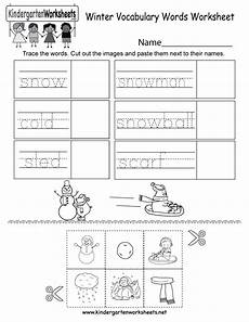 winter worksheets for kindergarten 19961 winter vocabulary words worksheet free kindergarten seasonal worksheet for