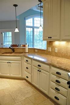 painting kitchen cabinets before and after countertops looked against the new cabinet
