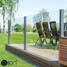 Terrassen Windschutz Glas - design glas sichtschutz system esg glaszaun windschutz