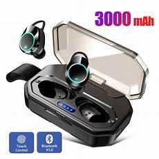 Leory Bluetooth Headset Smart Touch Earplugs by Tws Bluetooth 5 0 Earphones Touch Ipx7 Waterproof