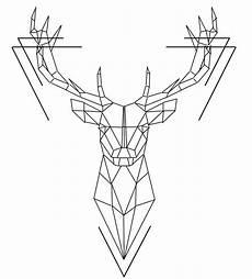 Malvorlagen Geometrische Tiere Geometric Deer Geometrische Tattoos Tiere