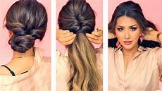 1 min everyday hairstyles for work with puff easy