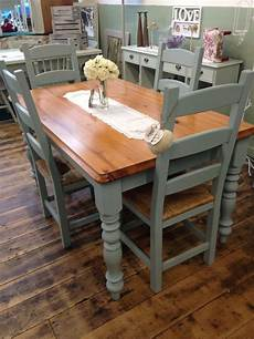 gorgeous kitchen table and chair transformed by