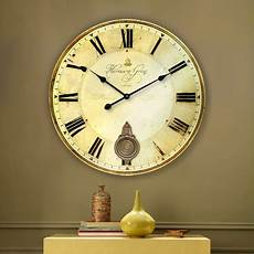 34cm 60cm vintage large wood wall clock for