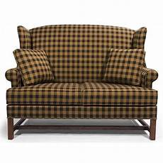 lancer homespun high wing back settee with rolled arms wayside furniture love seats