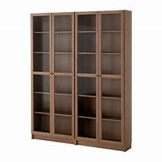 billy regal ikea billy oxberg bookcase brown ash veneer glass