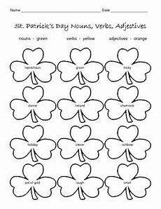s day adjectives worksheets 20304 st s day nouns verbs adjectives worksheet by connors