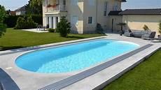 ueberdachung mit polyester wellbahn selbst polyester pools wallnerpool aus 214 sterreich