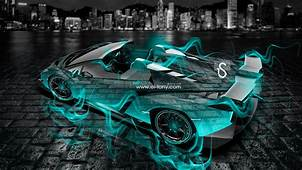 Lamborghini Veneno Roadster Crystal City Fire Car 2016