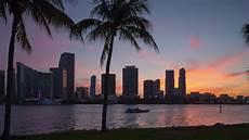 Sunset Miami by Sunset Biscayne Miami Florida Usa Hd Stock