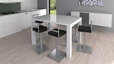 Table Haute Laqu 233 E Design Et Extensible Flexy Mobilier