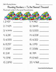 free printable worksheets for rounding to the nearest 10 8097 rounding to the nearest thousand worksheet teaching