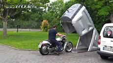 motorrad garage weltneuheit demonstration der neuen bikebox24