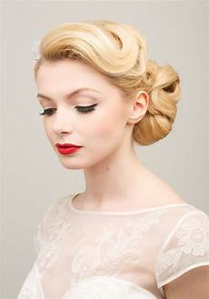Vintage Style Wedding Hair And Makeup