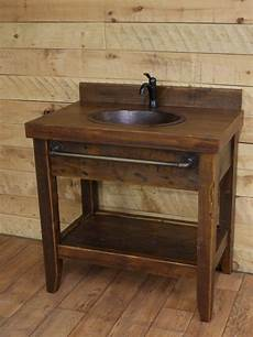 reclaimed wood rustic bathroom vanities