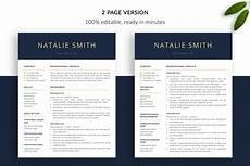 resume template package quot natalie quot resume templates bonus