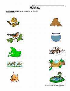animals and their habitat worksheets for kindergarten 14167 animal worksheet new 695 animal matching worksheet