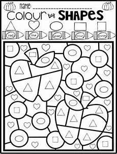 colors shapes worksheets 12808 color by code shapes seasonal bundle kindergarten math worksheets math worksheets