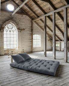 letto futon divano letto futon shin sano karup in legno naturale