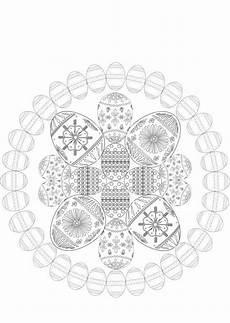 Osterhase Ausmalbilder Mandala Oster Mandala Zum Ausmalen Mandala Ostern Mandala