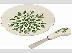 Lenox Holiday Cheese Plate with Knife, Ivory   My Cute